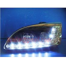 FORD FOCUS '05-'08 Projector Head Lamp Black [R8 LED Look]