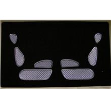 Mercedes Benz W220 `98-05 Seat Adjustable cover W/ Carbon Silver [W220