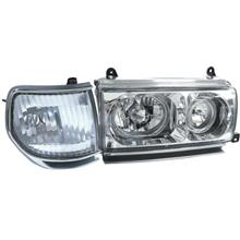 DEPO Toyota Landcruiser '90-94 FJ80/FJ82 Head Lamp+Corner+LED Ring[TY5