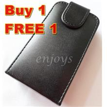 Enjoys 2x Leather Pouch Cover Case Samsung E2652W Champ Duos ~Flip Top