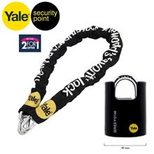 COMBO YALE Heavy Duty Steel Chain with Boron Steel 40mm Padlock