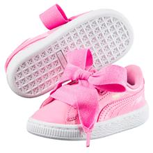 Puma Basket Heart Patent Infant Baby Girl Walking Shoe 363353-03