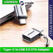 UGreen Type-C to USB 3.0 A Adapter Cable with Lanyard (Silver)