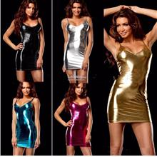 Bandage Stripper Dress Low Tight,Metallic Shiny Latex,Exotic Fetish