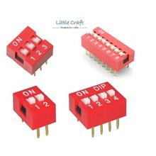 DIP Switch 2.54mm 2P, 3P, 4P, 5P, 8P