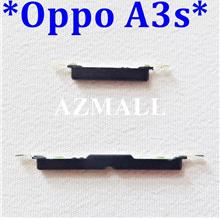 "NEW On /Off Power Volume Side Buttons Set for Oppo A3s (6.2"") ~BLACK"