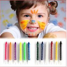 Kid-Neon Bright Metallic-Face Hair Crayon Paint-Make Up-Disguise Play