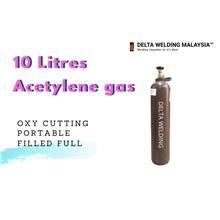 10LITRES ACETYLENE GAS STEEL CUTTING POTONG BESI