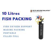 10 LITRES FISH PACKING MARINE OXYGEN GAS PORTABLE