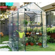 4 Tier Mini Greenhouse Iron Stands shelves Garden