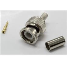 RG59 BNC MALE CRIMP CCTV PLUG CONNECTORS COAX COAXIAL WIRE