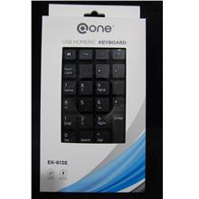 @ONE WIRED NUMERIC PAD (EK-613E) BLK