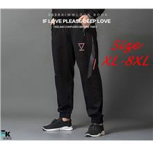 Plus Size Fat Men Casual Sport Pant Joggers (Large Size XL-8XL)