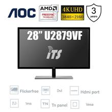 AOC 28' U2879VF 4K UHD Monitor(FreeSync/Flicker Free/Display Port/1ms)