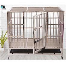 Foldable Large Size 202 Stainless Steel Dog Cage (1 month pre-order)