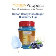 COTTON CANDY FLOSS SUGAR BLUEBERRY 1 KG