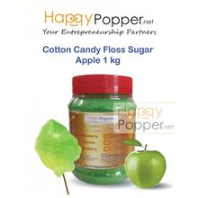 COTTON CANDY FLOSS SUGAR GREEN APPLE 1 KG