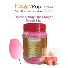 COTTON CANDY FLOSS SUGAR PEACH 1 KG