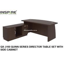 QX-2100 QUINN SERIES DIRECTOR TABLE SET WITH SIDE CABINET