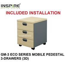 GM-3 ECO SERIES MOBILE PEDESTAL 3-DRAWERS (3D)