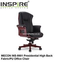 MECON INS-9901 Presidential High Back Fabric/PU Office Chair