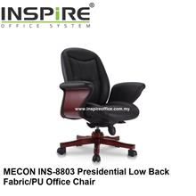 MECON INS-8803 Presidential Low Back Fabric/PU Office Chair
