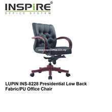 LUPIN INS-8228 Presidential Low Back Fabric/PU Office Chair