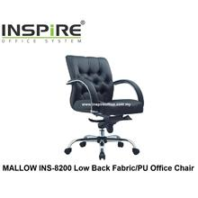 MALLOW INS-8200 Low Back Fabric/PU Office Chair