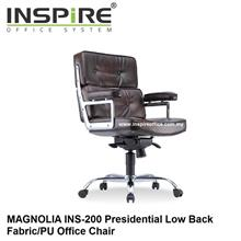 MAGNOLIA INS-200 Presidential Low Back Fabric/PU Office Chair