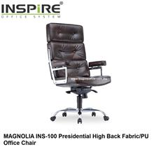MAGNOLIA INS-100 Presidential High Back Fabric/PU Office Chair