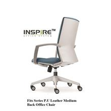Fits Series P.U Leather Medium Back Office Chair