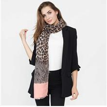 New Winter Women Leopard Print Scarf Long Shawl Pashmina Cape Blue/Red