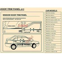 Thick Steel Chrome Window Door Trim / Lining Panel
