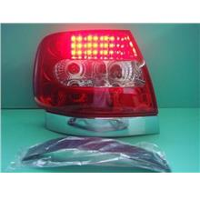 Sonar AUDI A4 95-99 CHROME RED/CLEAR LED TAIL LAMP