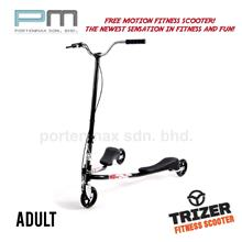 Three Wheeled Swing Scooter - Trizer Scooter ADULT ( TZ11 BLACK)