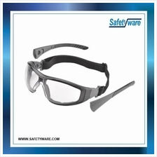 ELVEX Go-Spec II Foam Lined Clear Safety Glasess