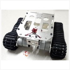 Smart Tank Chassis Crawler Aluminum Silver Assembled Robot Kit DC Motor Wheels