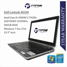 Dell Latitude E6330 i5 4GB RAM 500GB HDD Laptop (Refurbished)