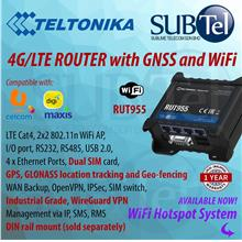 Teltonika RUT955 LTE 4G 3G 2G Automotive Router Modem with WiFi AP