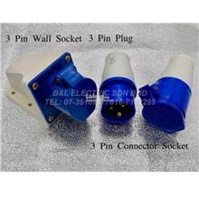 COMMANDO PLUG & SOCKET 3PIN-16A, 32A