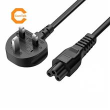 AC Power Cable with Fused CloverLeaf UK 3 Pin Plug 1.5M