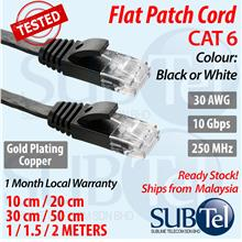SENTEC CAT6 Network Cable Flat Patch Cord LAN Gigabit Ethernet 10G