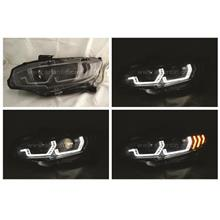 Honda Civic FC 16- Projector Head Lamp with Crystal Bar & Sequantial S