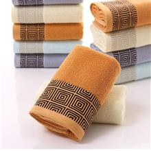 Plain Jacquard Pure Cotton Towel