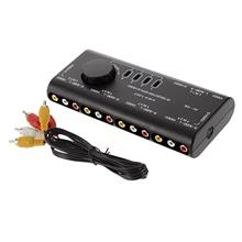 4 in 1 AV Audio Video Signal Switcher Splitter Selector 4 Way Selector