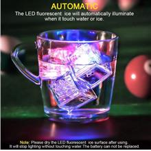 Led Light up Ice Cube Water Sensor Multi Colors Decoration Light (1 pi