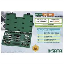 SATA 09135 27pc 1/2'DR.6PT Socket Set (Metric)