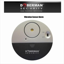 DOBERMAN SECURITY Wirefree Door Window Vibration Sensor Alarm System