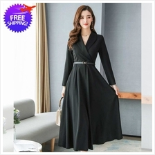 Western Design Women V Neck Long Sleeve Dress