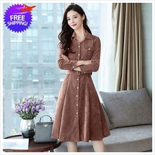 Western Design Women Knee Length Long Sleeve Dress